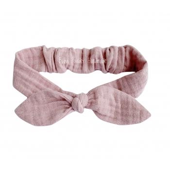 Muslin headband with an elastic band