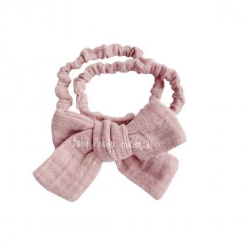 Muslin headband with a bow