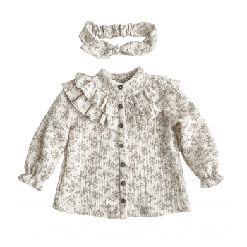 Muślinowa koszula z żabotem