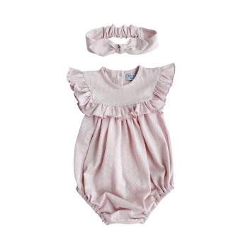 Romper with a frill in a square