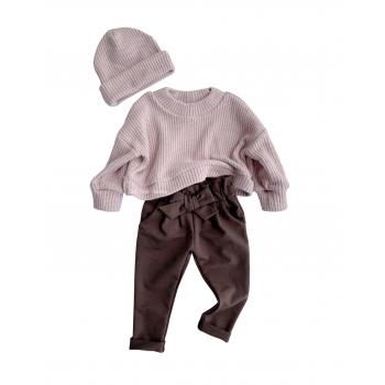 Spodnie basic z kokardką