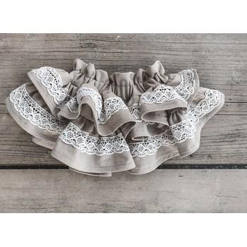 Spódniczka z bawełnianą koronką