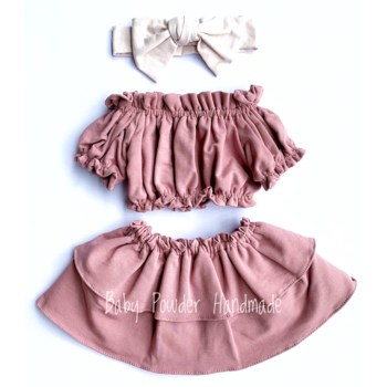 Flared skirt with two frills