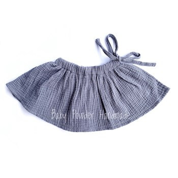 Muslin skirt with a tie