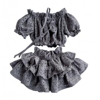 Ażurowa spódniczka z wysoką gumą