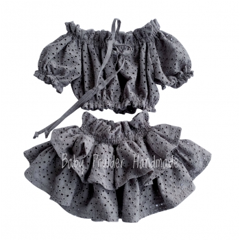 Openwork skirt with high rubber
